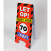 Warning sign 70 jaar