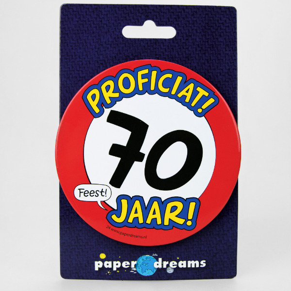 Button XL 70 jaar